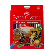 مدادرنگی 48 رنگ کلاسیک فابرکاستل (اصلی) جعبه مقوا