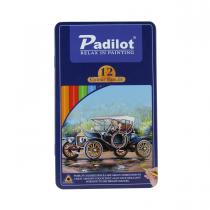 مداد رنگی 12 رنگ پادیلوت جعبه فلز