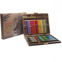 مدادرنگی 72 رنگ کنکو جعبه چوب